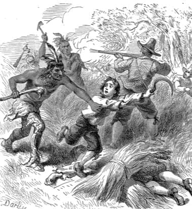 A Wampanoag raid on English farmers