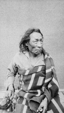 Big Bear, a Cree-Ojibwe chief who was central to limiting the violence