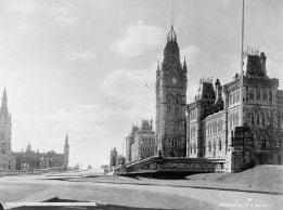 The Canadian Parliament Building before it was destroyed by fire in 1916
