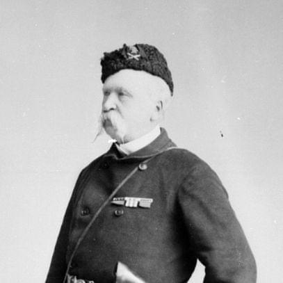 General Frederick Middleton, leader of the Canadian Militia during the Northwest Rebellion