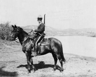 The Northwest Mounted Police were responsible for enforcing Canadian treaties with the First Nations