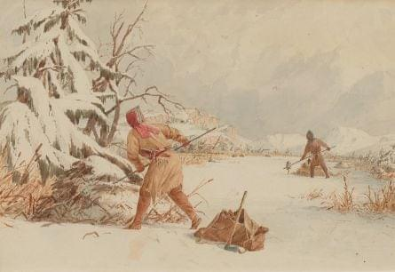 The 18th century Anishinaabe spent much of their lives hunting, for food and trade